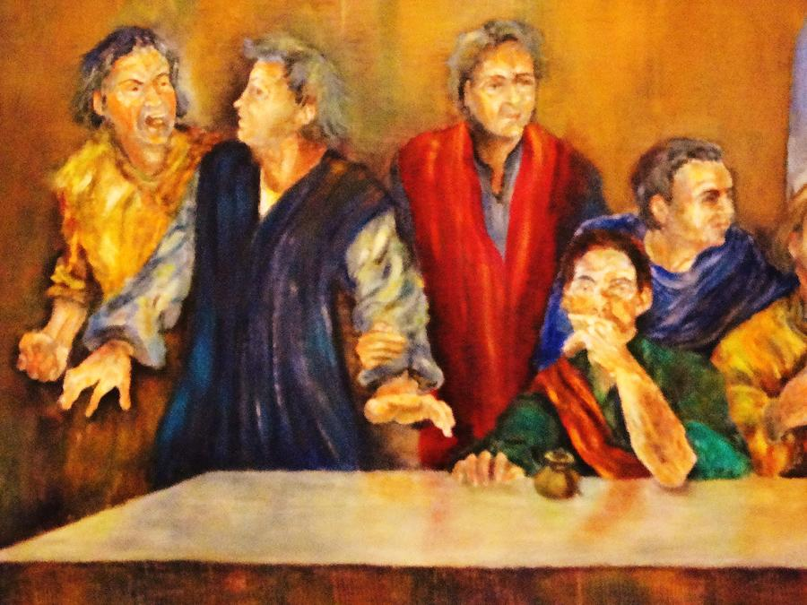 Abendmahl Painting - Detail Of Last Supper by Dagmar Helbig