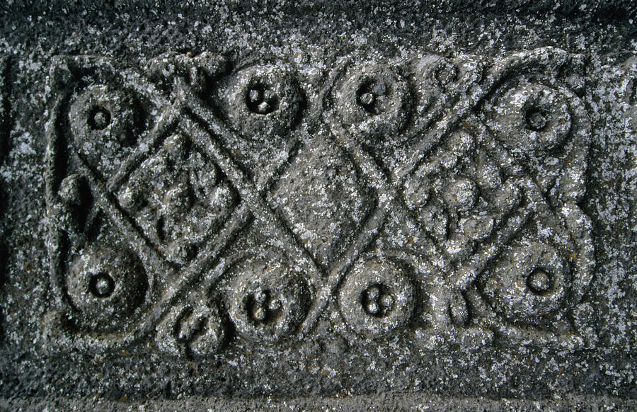Detail Of Mcleans Stonecross At Iona Photograph by Martin Moos