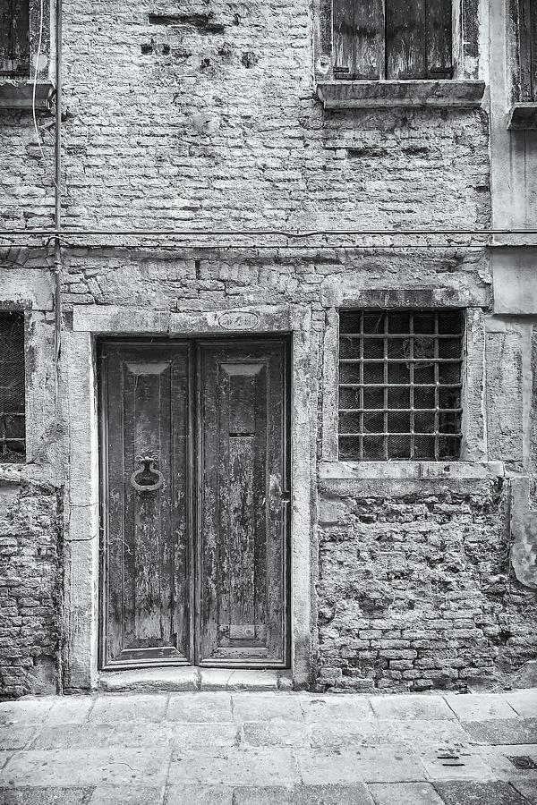 Italy Photograph - Detail Of Old Facade In Venice by Francesco Rizzato