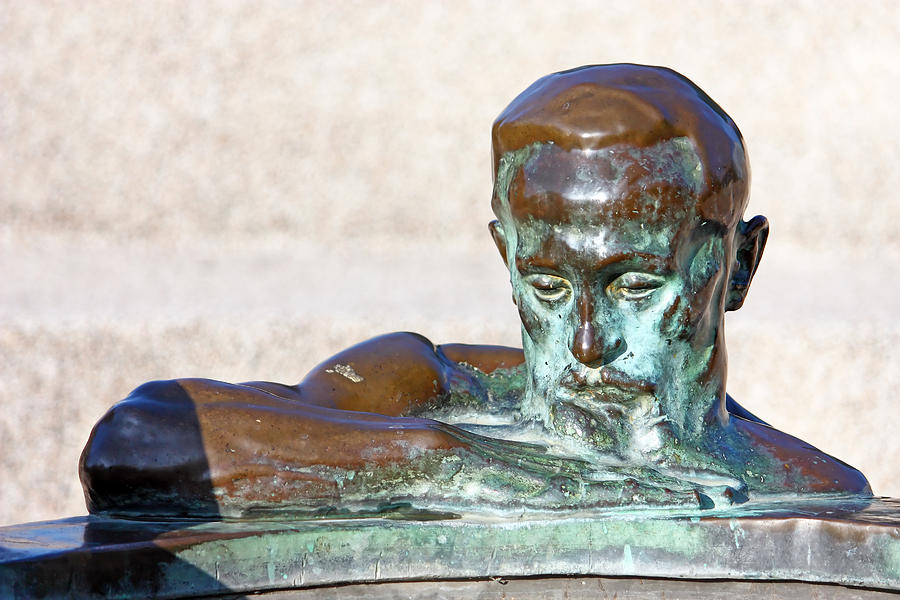 Bronze Photograph - Detail Of Sculpture by Borislav Marinic