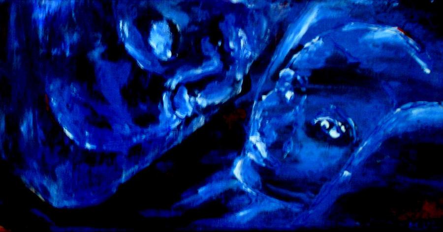 Sleep Painting - Detail Of Seeking Sleep-2 by Kathy Peltomaa Lewis