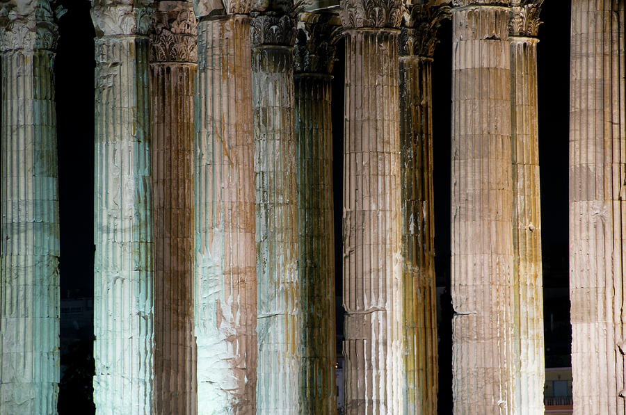 Detail Of Surviving Columns On Temple Photograph by Krzysztof Dydynski