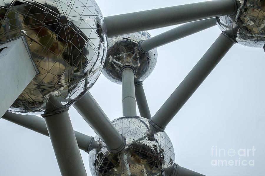Detail Of The Atomium In Belgium Photograph