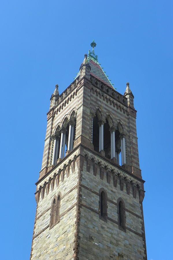 Towers Photograph - Detail Old South Church Boston by Georgia Hamlin