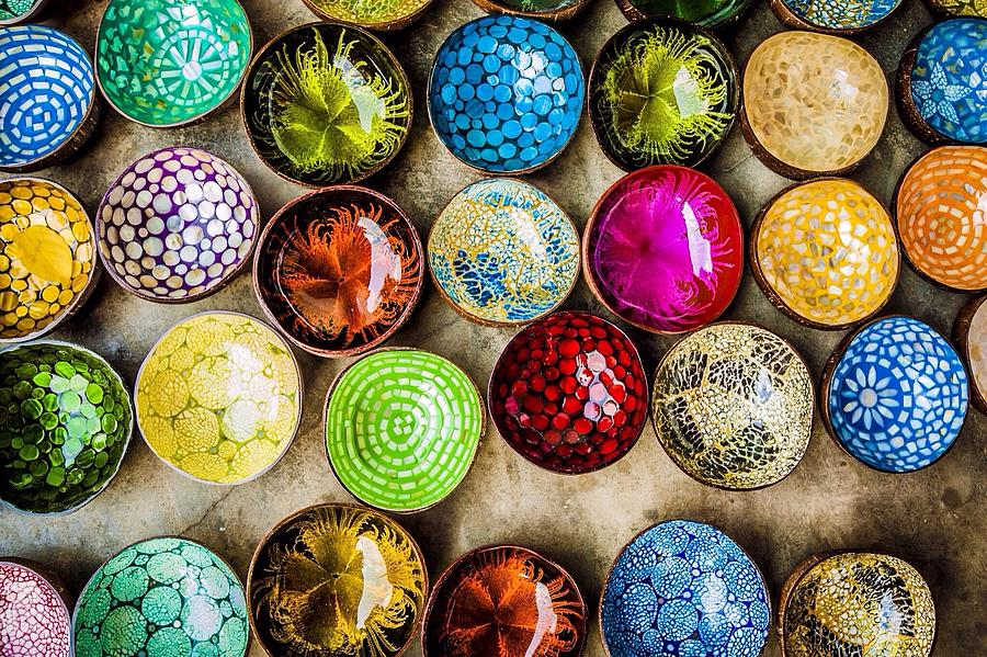 Detail Shot Of Colorful Bowls Photograph by Nam Bui Anh / Eyeem