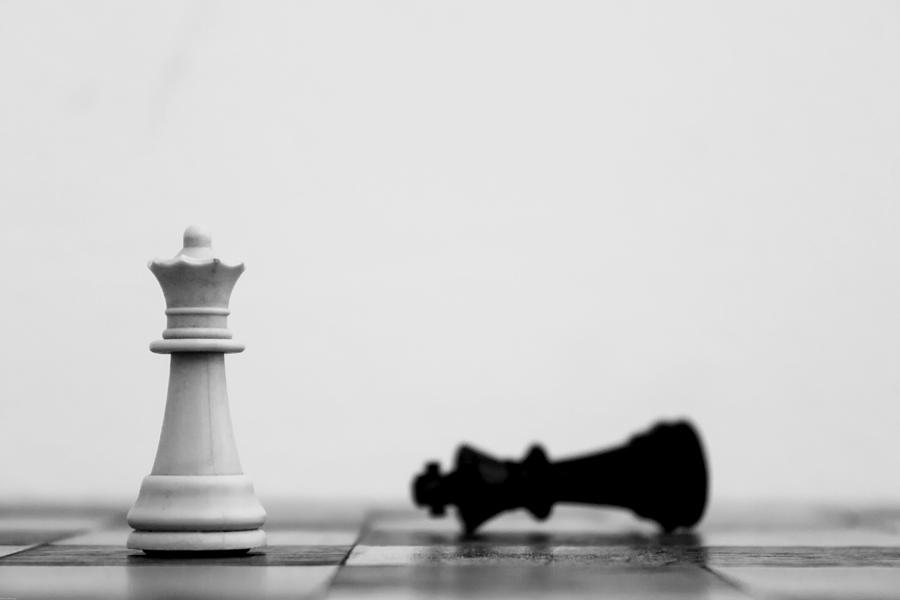 Detail Shot Of White Chess Piece Photograph by Moritz Haisch / Eyeem
