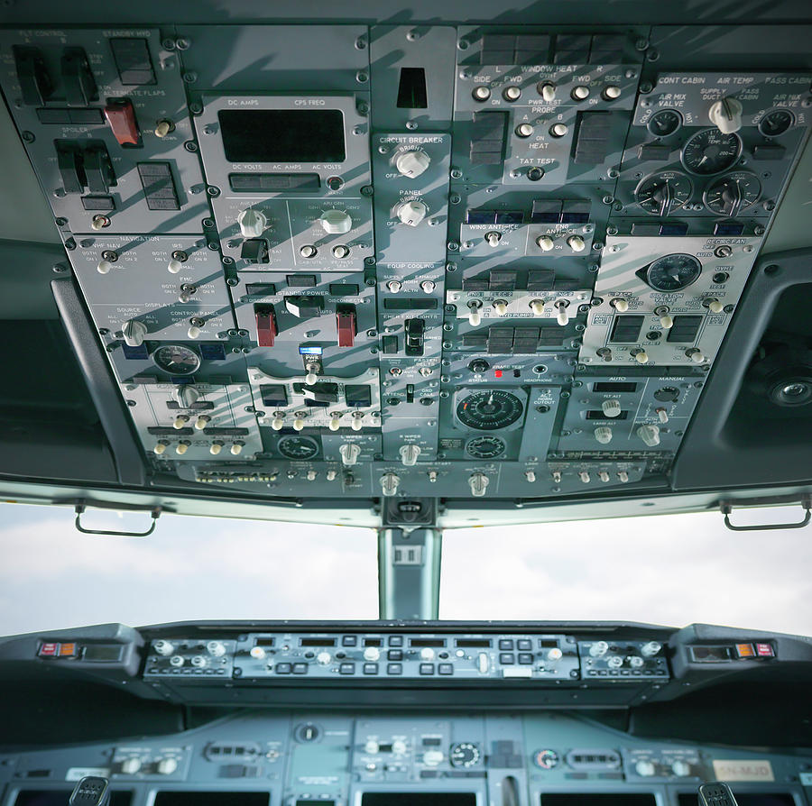 Detail View Of Cockpit Of A Jet Engine Photograph by Monty Rakusen
