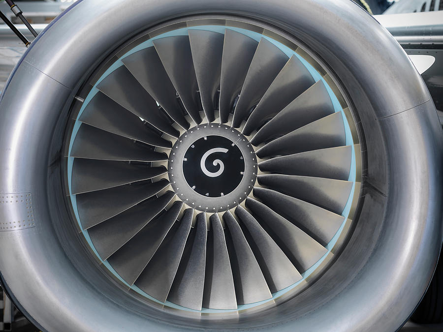 Detail View Of Jet Engine Of Airplane Photograph by Monty Rakusen