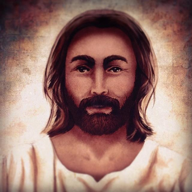 Jesus Photograph - Portrait of Jesus by April Moen