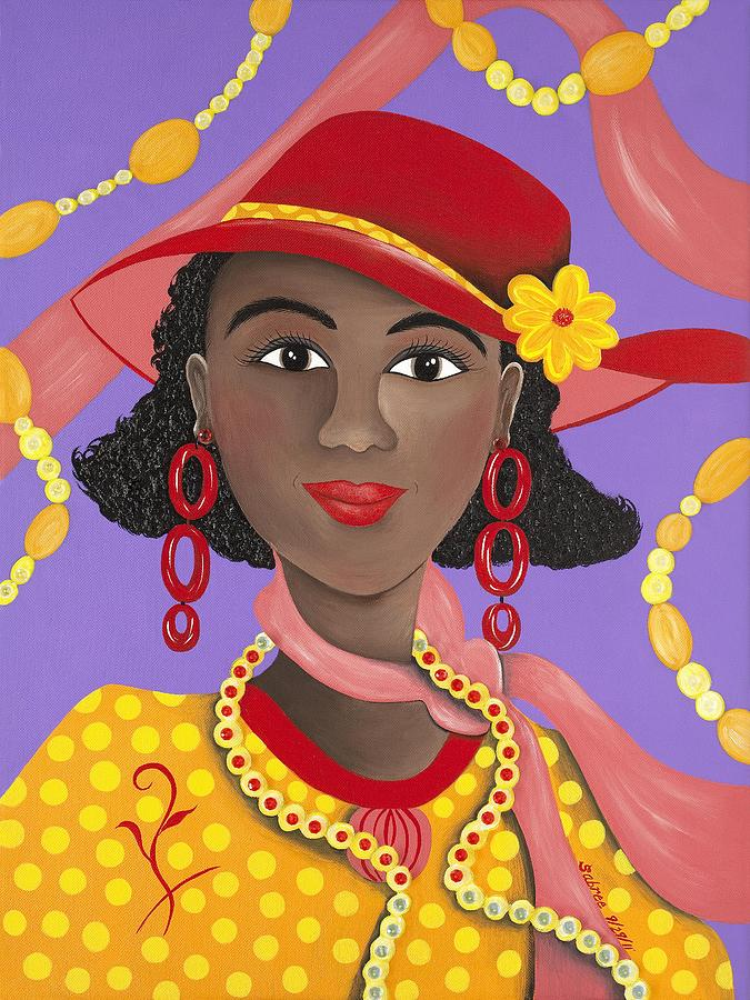 Gullah Artist Painting - Determined by Patricia Sabree