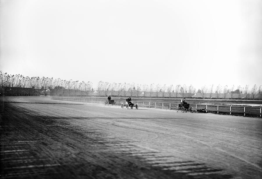 1902 Photograph - Detroit Auto Race, C1902 by Granger