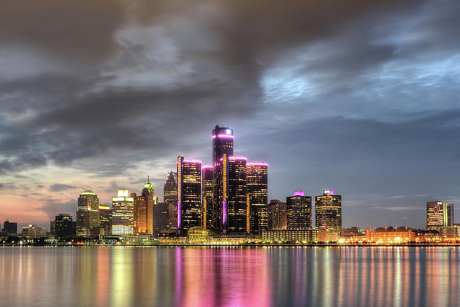 Detroit Cityscape Photograph by Linda Goodhue Photography