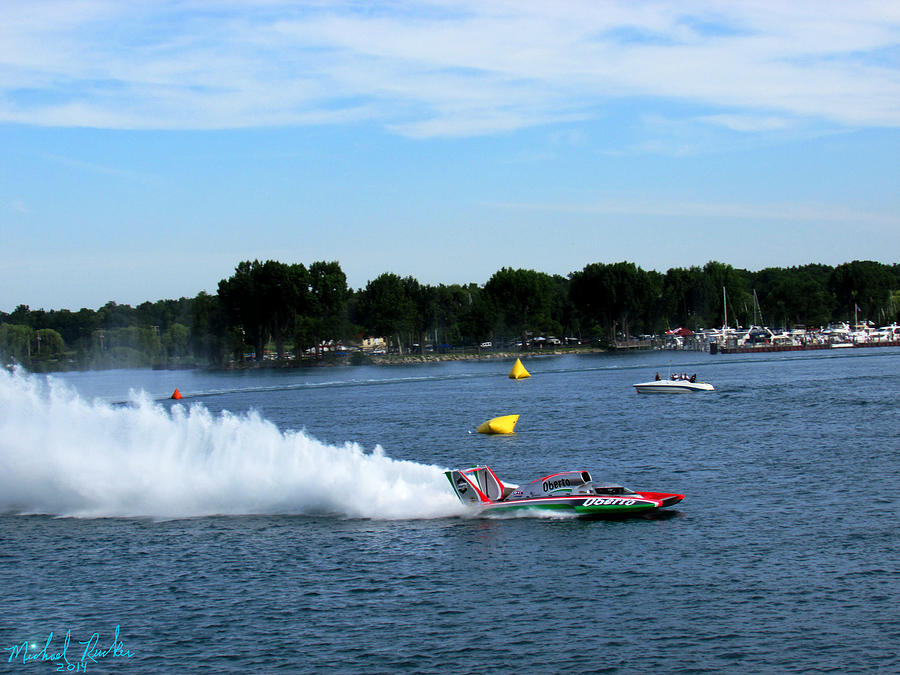 Detroit Gold Cup Photograph - Detroit Hydroplane Race  by Michael Rucker