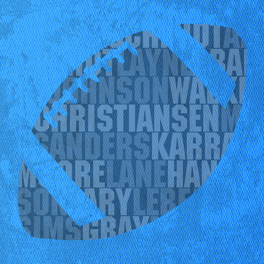 Detroit Mixed Media - Detroit Lions Football Team Typography Famous Player Names On Canvas by Design Turnpike