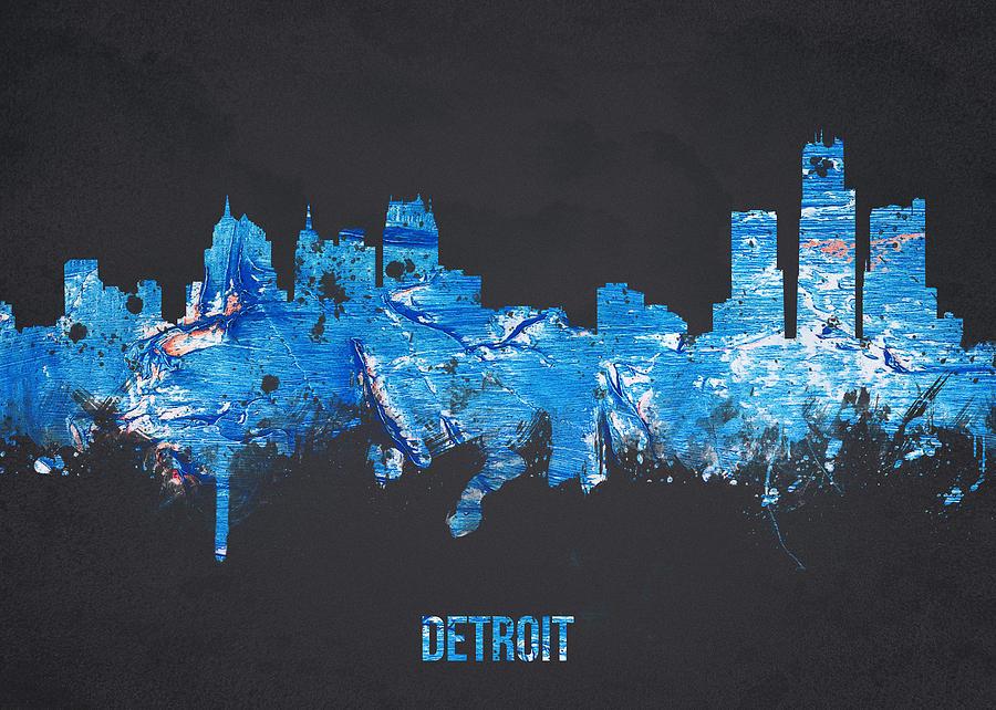 Architecture Digital Art - Detroit Michigan Usa by Aged Pixel