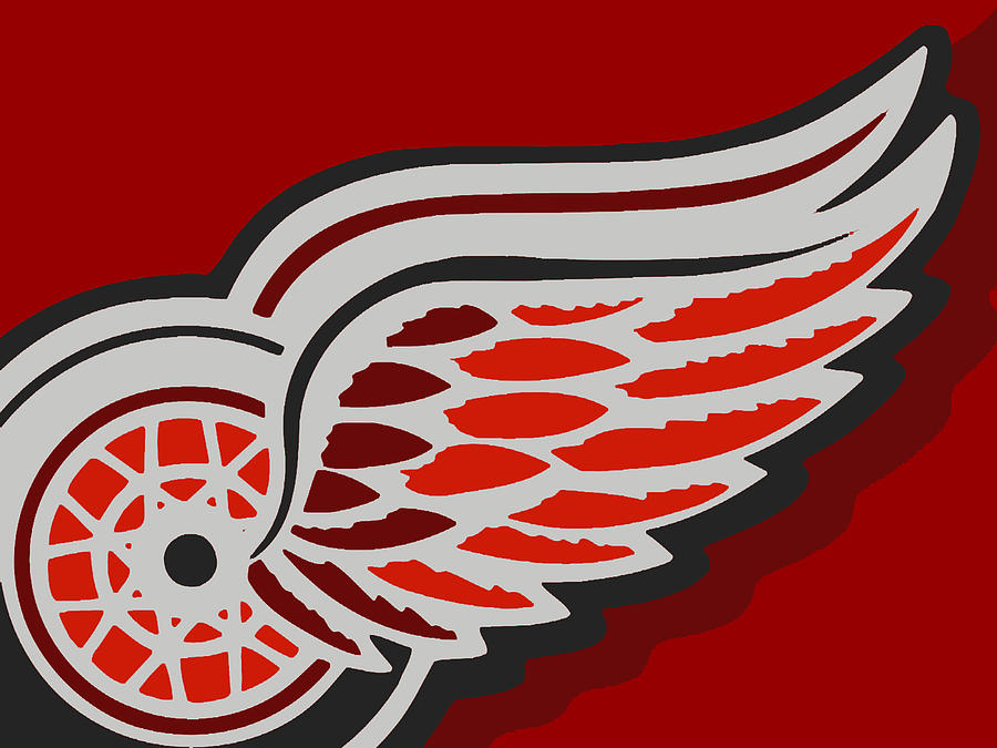 Detroit Painting - Detroit Red Wings by Tony Rubino