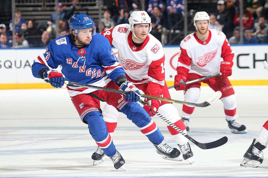 02c84b14433 Detroit Red Wings V New York Rangers Photograph by Jared Silber