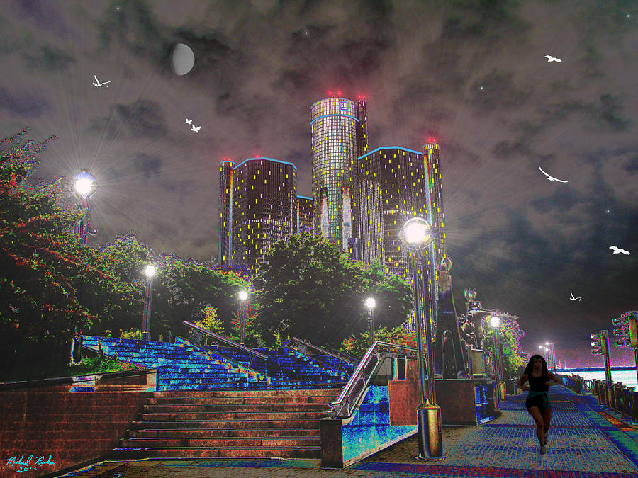Detroit Photograph - Detroit Riverwalk by Michael Rucker