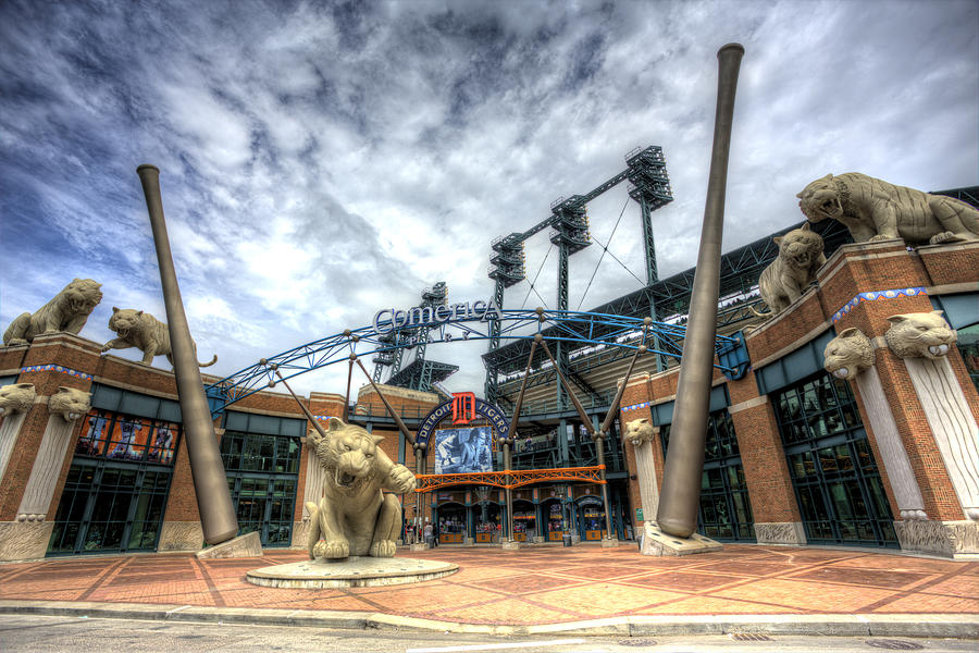 Detroit Tigers Stadium Entrance Photograph By Shawn Everhart
