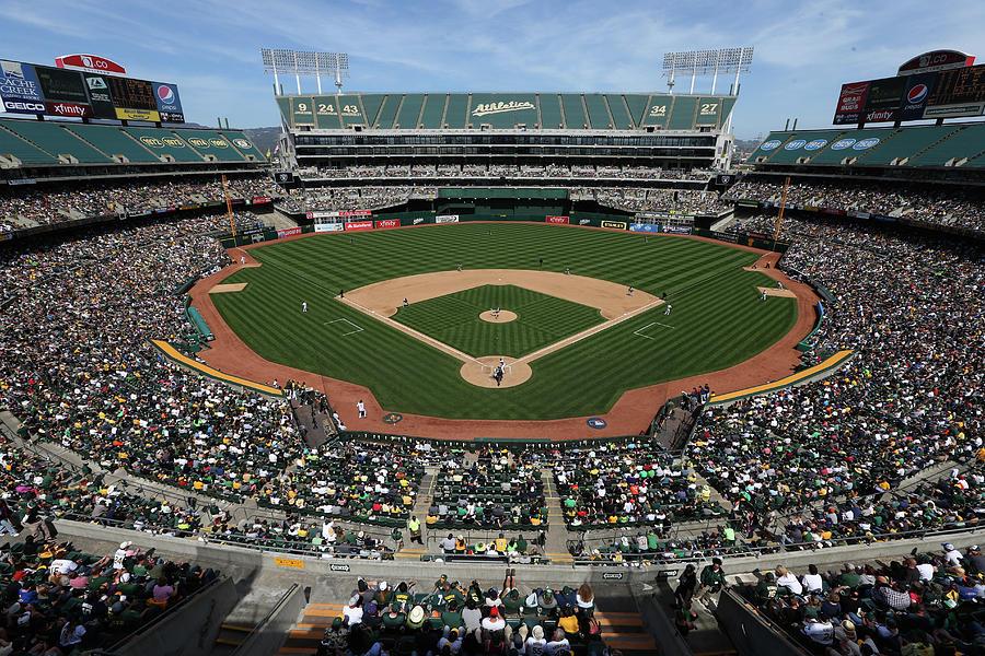Detroit Tigers Vs. Oakland Athletics Photograph by Brad Mangin