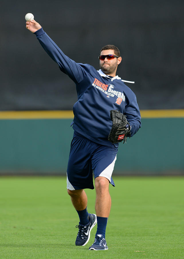 Detroit Tigers Workout Photograph by Mark Cunningham