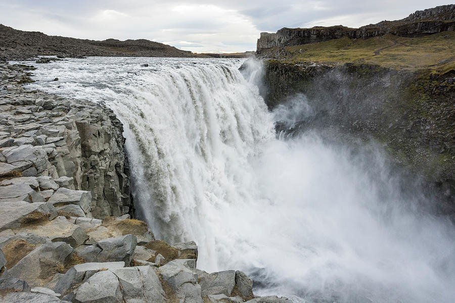River Photograph - Dettifoss Waterfall In North Iceland by Andres Valencia