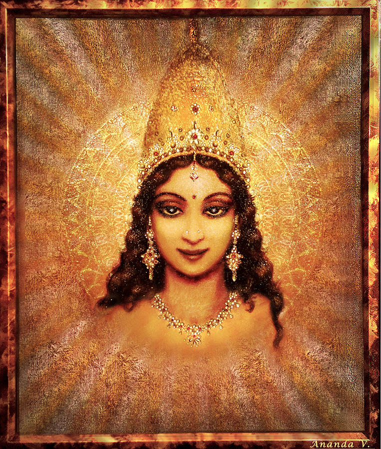 Goddess Painting Mixed Media - Devi Darshan by Ananda Vdovic