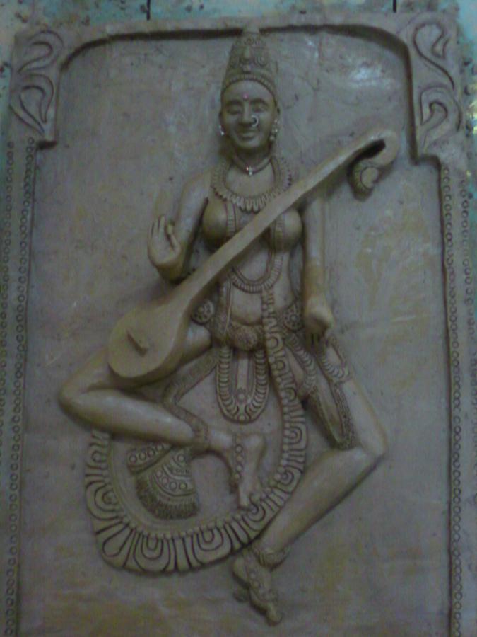 Devi Mural Sculpture by Shilpa V n