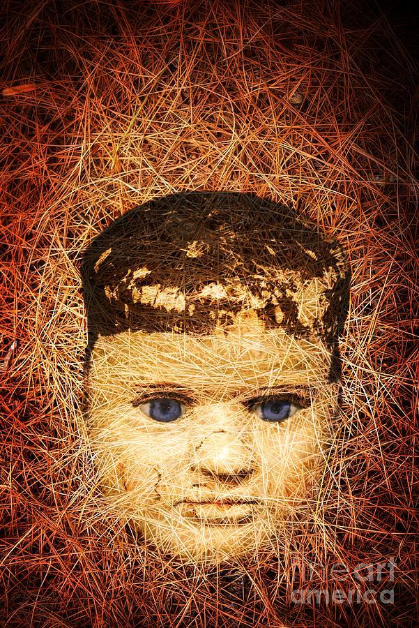 Scary Photograph - Devil Child by Edward Fielding