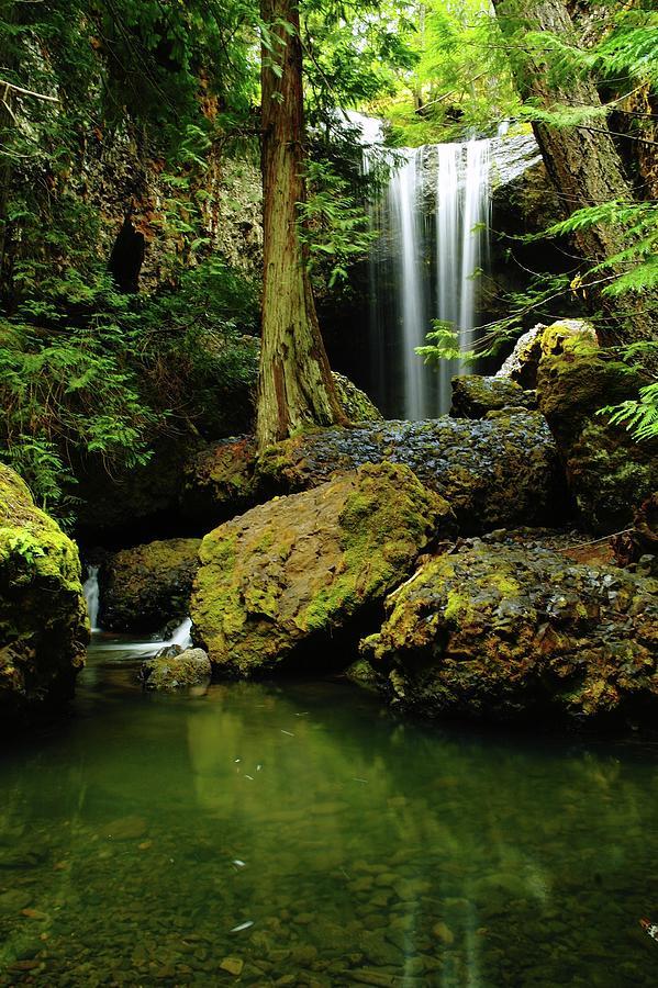Boulder Cave Photograph - Devil Creek Falls  by Jeff Swan