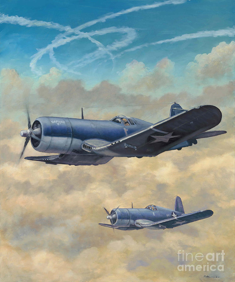 James Painting - Devil Dog Fight by Stephen Roberson