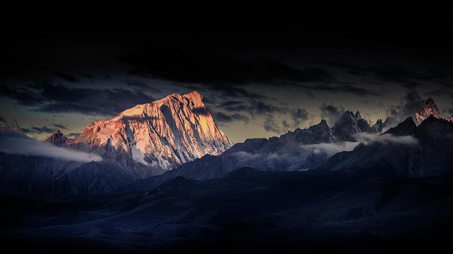 Mountain Photograph - Devildom The Snow Capped Mountains A??a??c??ae??a??a?? by Qiye????