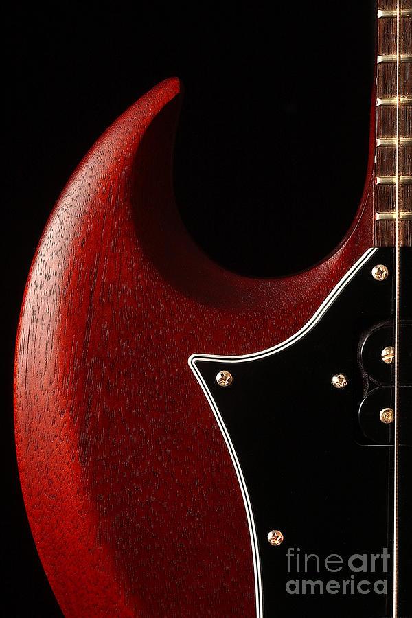 Guitar Photograph - Devils Horn by Rick Livingston