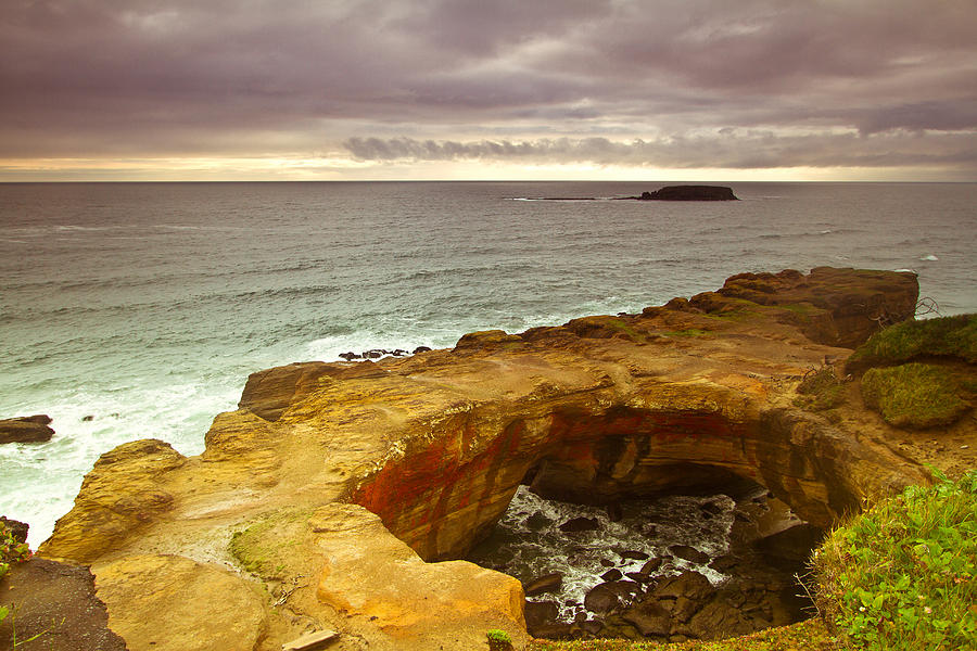 Seashore Photograph - Devils Punch Bowl by Eti Reid