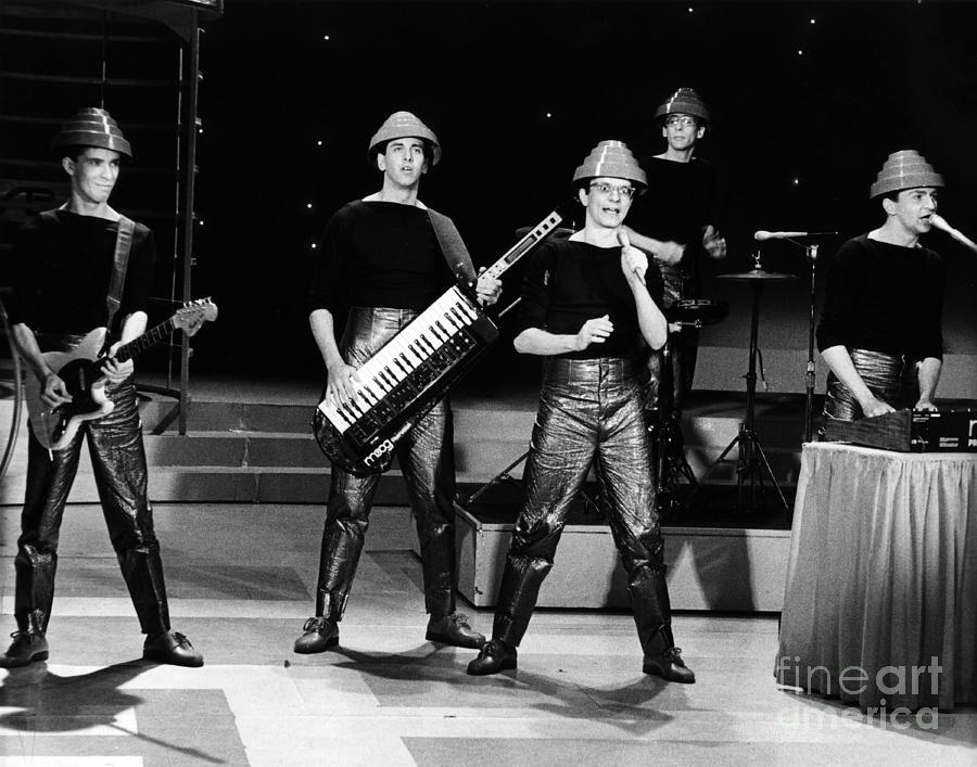 Devo Photograph - Devo 1980 by Chris Walter