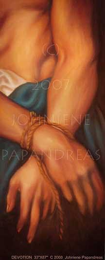 Bondage Painting - Devotion by Johniene Papandreas