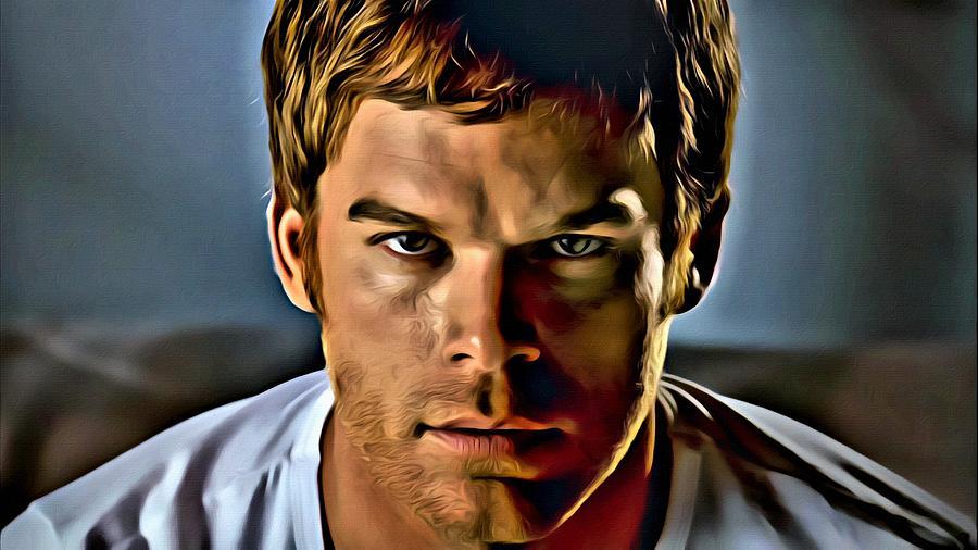 Dexter Painting - Dexter Portrait by Florian Rodarte