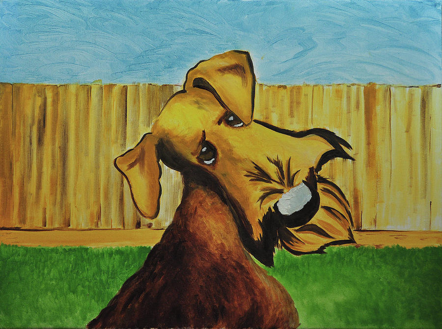 Airedale Terrier Painting - Dexter by Ruben Barbosa