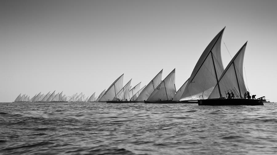 Action Photograph - Dhow Race Start by Chris Cameron