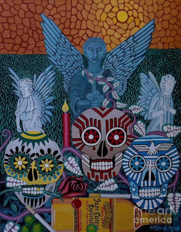 Dia De Los Muertos Painting - Dia De Los Muertos by Anthony Morris