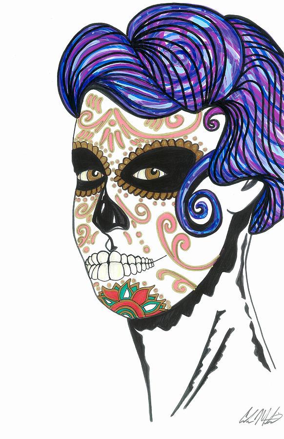 Dia De Los Muertos Drawing - Dia de los Muertos by Carlos Martinez
