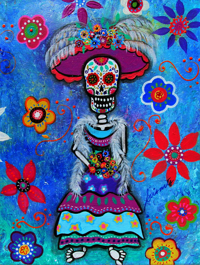 Diego Rivera Painting - Dia De Los Muertos Catrina by Pristine Cartera Turkus