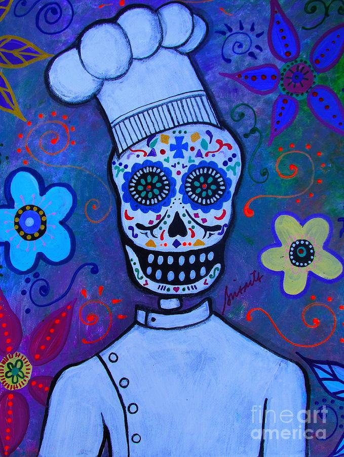 Dia De Los Muertos Cocinero Painting By Pristine Cartera