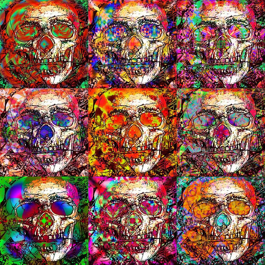 Skulls Digital Art - Dia De Los Muertos by Devalyn Marshall