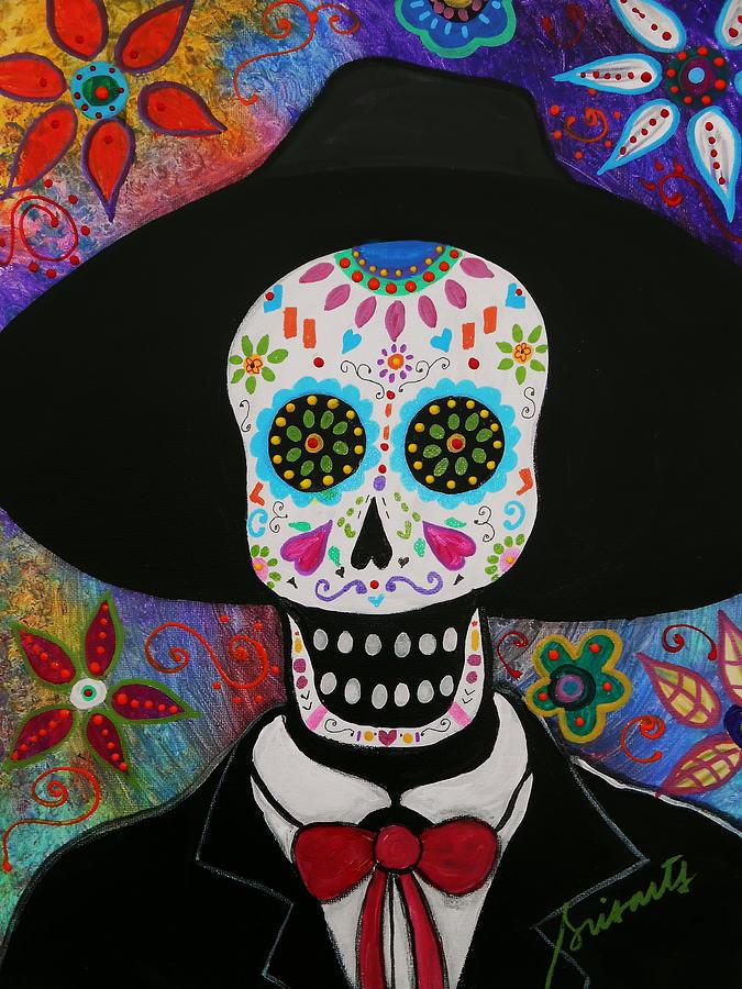 Dia De Los Muertos Mariachi Painting By Pristine Cartera