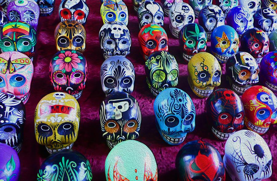 Skull Photograph - Dia De Los Muertos by Timothy Ramos