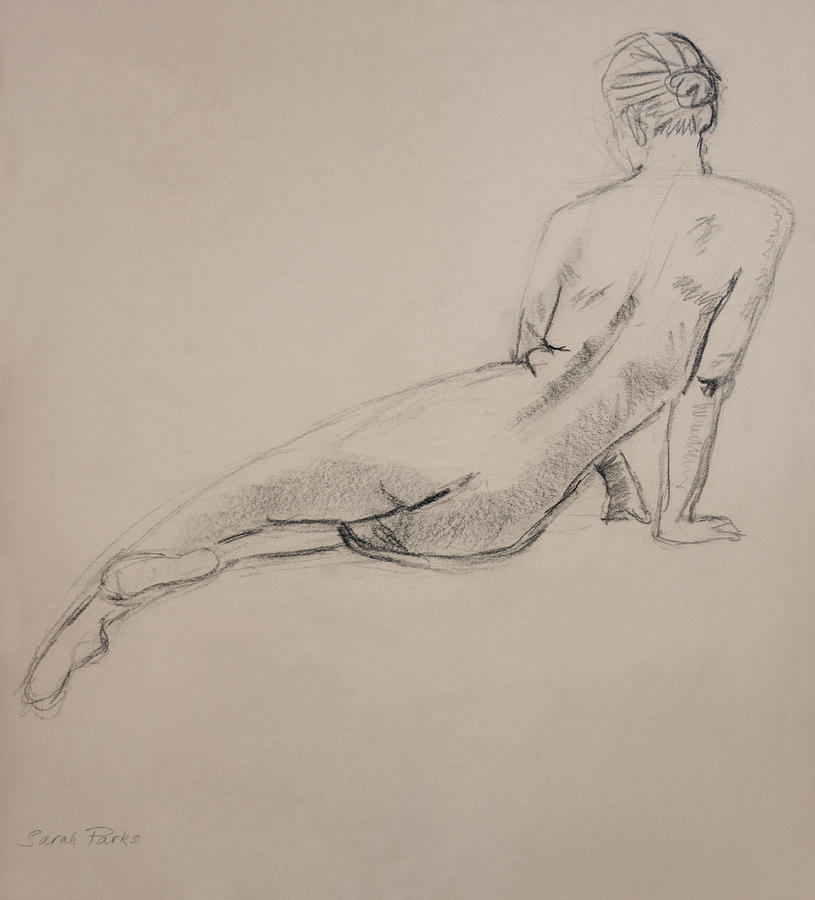 Figurative Drawing - Diagonal Form by Sarah Parks