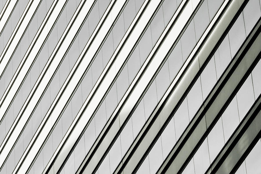 Diagonal Line In Art : Diagonal lines of a chicago building photograph by anthony
