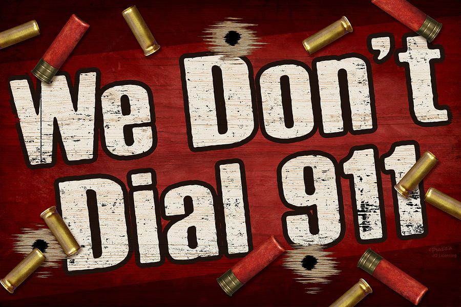 Sign Painting - Dial 911 by JQ Licensing