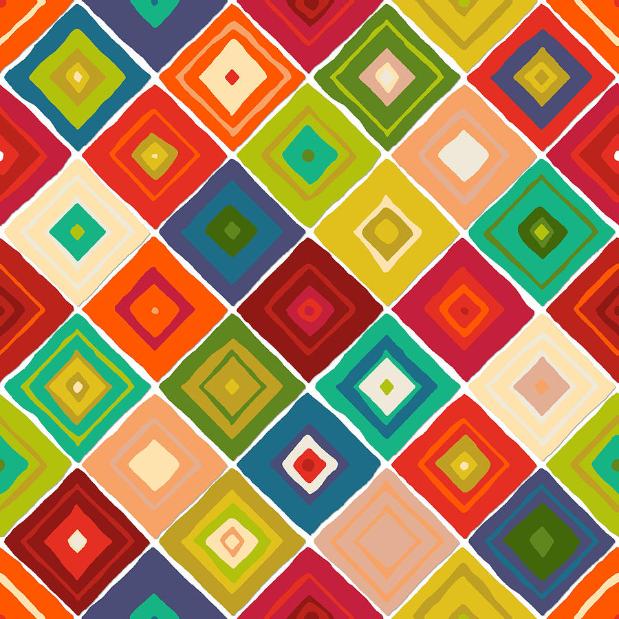 Tile Drawing - Diamante by MGL Meiklejohn Graphics Licensing